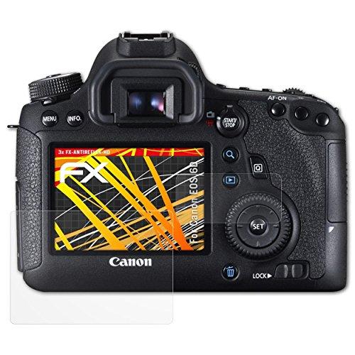 Canon EOS 6D Displayschutzfolie - 3er Set atFoliX FX-Antireflex-HD hochauflösende entspiegelnde Schutzfolie Folie (Canon 6d Screen Protector)