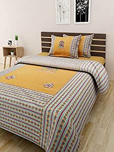 The Home Story Patchwork Double Bedsheet + 2 Pillow Covers