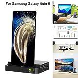 Big-Mountain Kabelloses Ladestation für Samsung Galaxy Note 9, HDMI Dex Station Desktop Erweiterung Laden, Fast Induktive Ladebasishalterung Halterung (Schwarz)