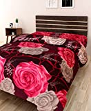 #9: IWS 3D Printed 160 TC Polycotton Single Bedsheet - Floral, Multicolour