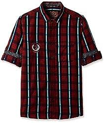 The Indian Garage Co Boys Shirt (KDSRT800-Red_12Y)