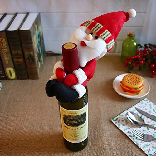 Lff.ff decorazione di natale bottiglia set santa claus holding wine bar ristorante decorazione,b