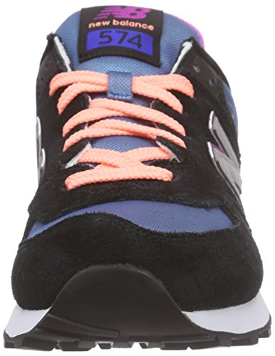 New Balance Wl574v1, Baskets Basses Femme Multicolore (Black/Silver)