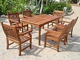 Sedex Gartengarnitur NEW JERSEY 7-tlg Sitzgruppe aus Massivholz