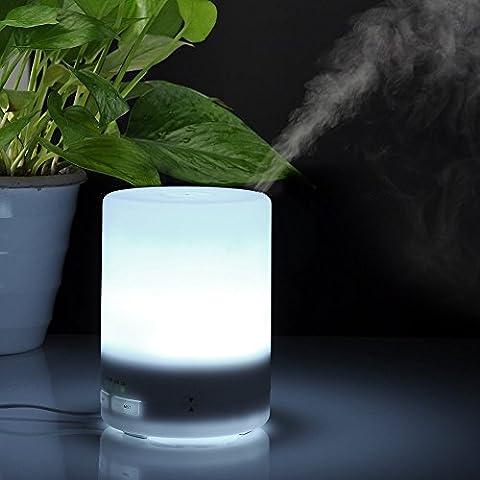 ieGeek® 3 en 1 luz de la noche del LED USB Aceite Esencial humidificador ultrasónico eléctrico Aromaterapia difusor del aroma seco Proteger