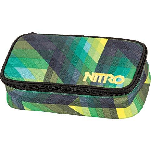 Nitro Snowboards Mäppchen Pencil Case XL, Geo Green, 6 x 8 x 20 cm, 1.3 Liter, 1161878043