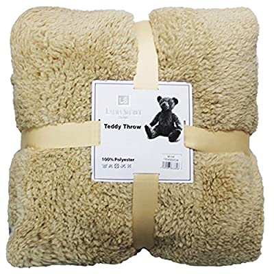 IB Textiles Best Quality Super Soft Teddy Bear Throw Thick Warm Sofa Bed Blanket Throw