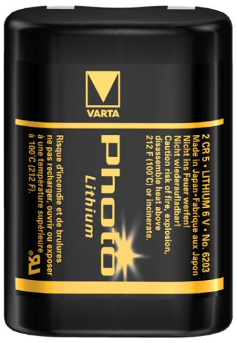 VARTA 2CR5 6V Lithium Fotobatterie 1.500mAh