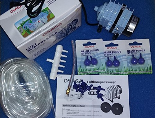 19 Teilig Teichbelüftungs Set LK35 komplett System 19 teilig Winter Eisfreihalter -