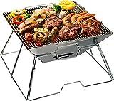 AceCamp BBQ Carbone Barbecue Klassik Gross, pieghevole campeggio, Grill, Grill, compatto, Acciaio Inox, 1601 immagine