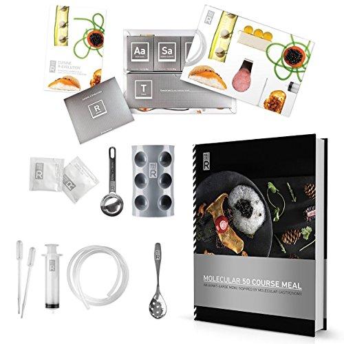 molecule-r 50pasto Cookbook Combo cucina molecolare gastronomia e kit Culinary food styling siringa marinata iniettore-speciale confezione do
