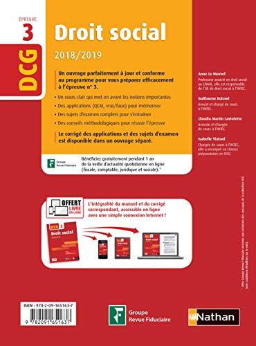 DCG 3 - Droit social - 2018/2019