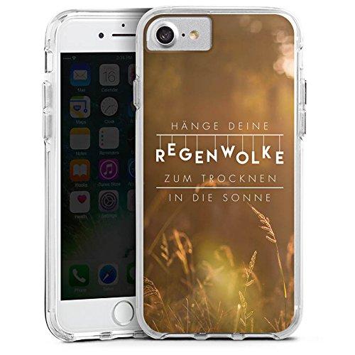 Apple iPhone 6 Plus Bumper Hülle Bumper Case Glitzer Hülle Motivation Spruch Statement Bumper Case transparent