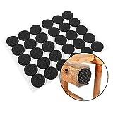 Möbel Pads, acogedor Premium 30Stück Filz Pads, selbstklebend Boden/Stuhl/Stuhl Bein/Tisch/Sofa Schutz, rutschfeste Füße Pads, rund, schwarz