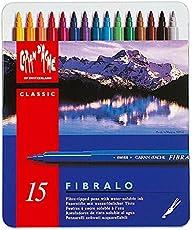 CARAN d'ACHE - FIBRALO Aquarelle Filzstifte in Metallbox - 15 Stück