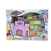 Koolbitz Fairy Princess Castle Toy Doll Playset Princess Figures Castle Play House, Furniture, Accessories