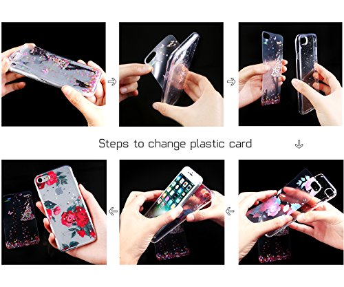 iPhone 8 Plus Hülle,iPhone 7 Plus Hülle,iPhone 7 Plus Schutzhülle,iPhone 7 Plus TPU Handyhülle Durchsichtig, JAWSEU iPhone 7 Plus Weich Silikon Hülle [Kristallklar Durchsichtig], + [3 PCS Ultradünn DI #6