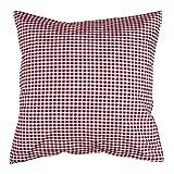 Hans-Textil-Shop Kissenbezug 40x40 cm Vichy Karo 5x5 mm Bordeaux Rot