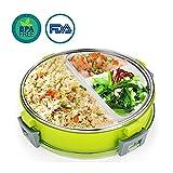 OldPAPA Lunchbox | Edelstahl Bento Box | Brotdose mit Edelstahlbesteck,Frischhaltedose mit Besteck für Lunch Zum Mitnehmen, Auslaufsicher und unterteilt