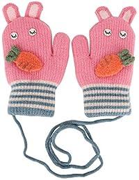 c18db959ee YSXY Süße Fäustlinge Baby Kleinkind Gestrickte Handschuhe für 1,2,3 Jahre  Jungen Mädchen Winter Warme Strickhandschuhe mit schnur…
