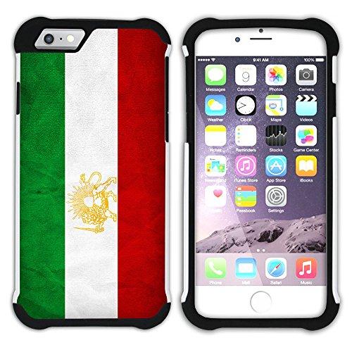 Graphic4You Vintage Uralt Flagge Von Afghanistan Afghane Design Hart + Weiche Kratzfeste Hülle Case Schale Tasche Schutzhülle für Apple iPhone 6 / 6S Iran Iraner