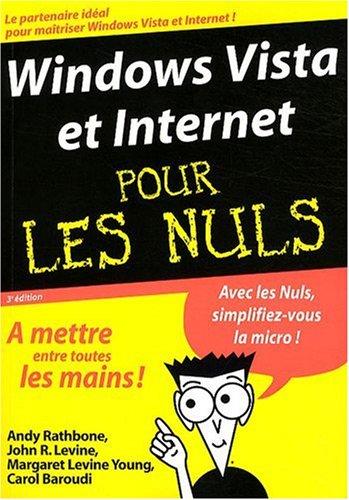WINDOWS VISTA ET INTERNET 3ED