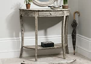 style vintage shabby chic cr me antique style console de couloir home table manger avec. Black Bedroom Furniture Sets. Home Design Ideas
