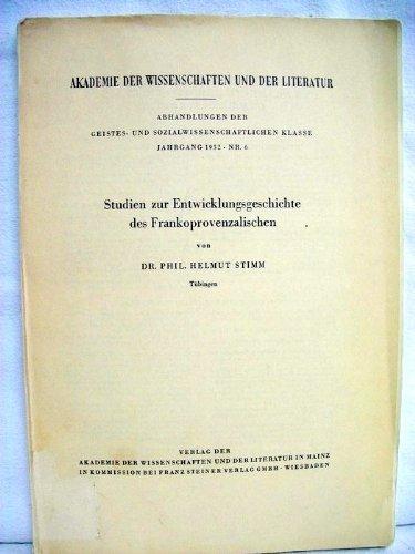 Studien zur Entwicklungsgeschichte des Frankoprovenzalischen.