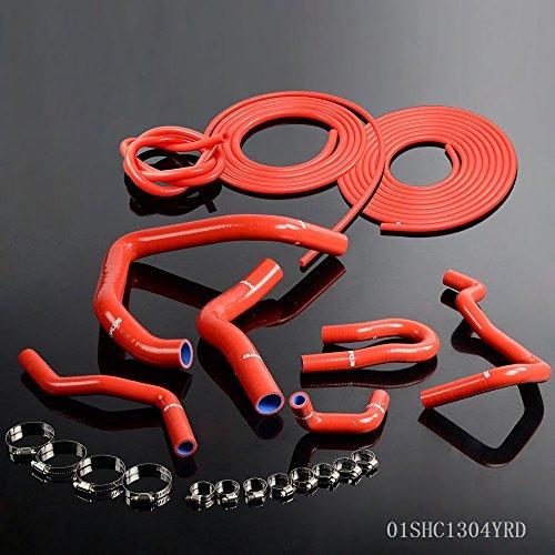 Speedmotor in silicone tubo radiatore + Kit per Honda Civic Type-R DC2B16A b18C DOHC Rosso