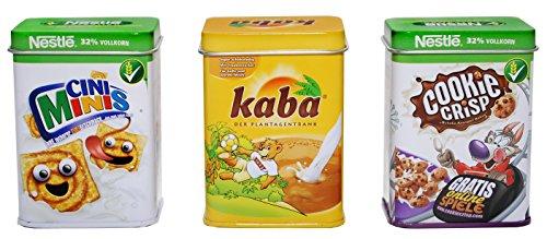 *tanner 0063.4 – Metalldosen Set, Cookie Crisp, Kaba, Cini Mini*
