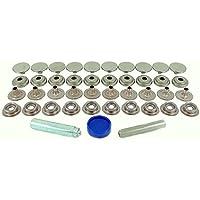 BPS A4 850-6 R00 (Grado 316) - Kit de Reparación de Botones a Presión Acero Inoxidable (Grado 316) - Para la aplicación de tela a tela (10 Sets)