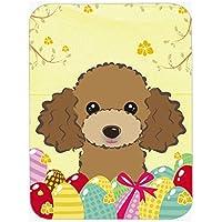 Chocolate Brown Poodle caccia alle uova tappetino per mouse, presina o sottopentola BB1938MP
