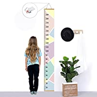 Kids Growth Chart,Bingolar Children height chart growth wall chart height wall chart Art Hanging Rulers for Kids Bedroom Nursery Wall Decor Removable Height and Growth Chart(Pink 7.9 x 79in)