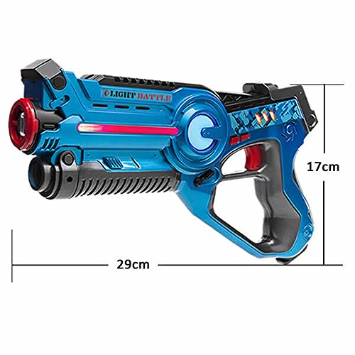 Arma-de-juguete-de-Light-Battle-Active-para-nios-Color-azul-Juego-de-accin-LBA104