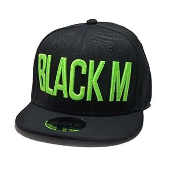 Casquette Snapback Noire logo Vert Fluo Black M Enfant de 12 mois 10ans Taille de 45 à 53 Garçon Fille