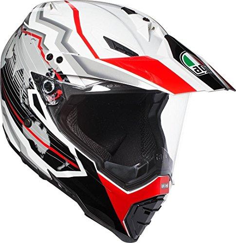 AGV Motorradhelm AX-8 Dual Evo E05 Multi, Earth Weiß/Schwarz/Rot, Größe L (Agv Evo Ax-8)