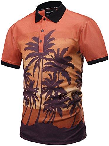 d4c5523712ecee Pizoff Unisex Herren Schmal Geschnittenes Polohemd T-Shirt Sommer Mode  Kurze Ärmel Spaß Schlank Tops