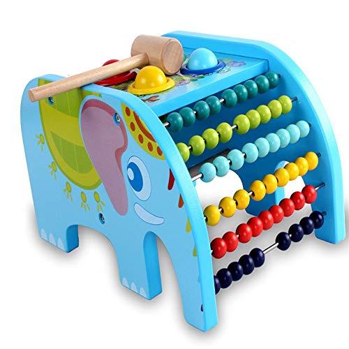 Mings Juguetes de los niños Bebé Multifuncional Rompecabezas de Madera Flap Elefante...