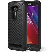 ASUS Zenfone 2 Laser Funda - MoKo [Anti Drop] Hard Polycarbonate + Silicone Protector Bumper Cover for ASUS Zenfone 2 Laser (ZE550KL / ZE551KL) 5.5 Inch Smartphone 2015 Release, Negro