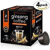 King Cup - Ginseng-Kaffee mit Rohrzucker - 4 Packungen x 10 mit Nescafè* Dolce Gusto®* kompatible Kapseln (40 Kapseln)