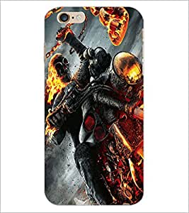 PrintDhaba Ghost Rider D-2172 Back Case Cover for APPLE IPHONE 6S (Multi-Coloured)