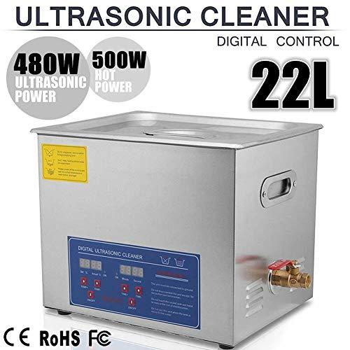 SWEEPID 10L Ultraschallreinigungsgerät Ultraschall-Reinigungsgerät mit Heizung Digitale Timer Ultraschallreiniger großer Tank mit Korb (22L)
