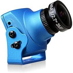 "Foxeer Arrow V3 1/3 ""Sony SUPER HAD II CCD + Nextchip 2040 DSP 600TVL 2.5 mm IR bloque incorporado MIC OSD para FPV Racing Drone Blue"