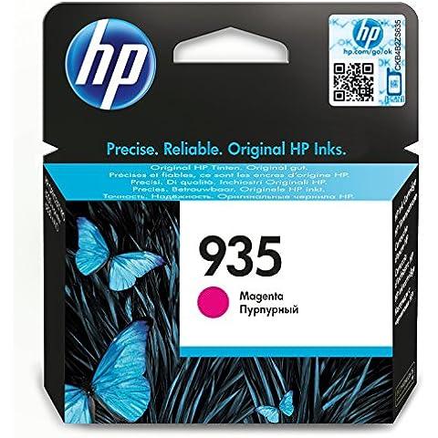 HP 935 Magenta Original Ink Cartridge - Cartucho de tinta para impresoras (Magenta, Estándar, 400 páginas)