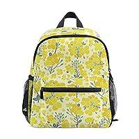 Backpack Yellow Canola Flower Pattern Print School Bags Boy Girl Daypack