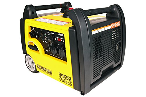 Champion 3100 Watt Inverter Benzin Generator Notstromaggregat Stromerzeuger EU, 6 liters, Gelb-Schwarz 2800w Inverter