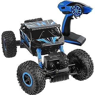 RC Rock Crawler, 1/18 2.4Ghz 4WD Ferngesteuertes Auto RC Off Road Vehicle schnelle Geschwindigkeit Rennwagen Crawler Buggy Fernbedienung Monster Truck mit wiederaufladbare Batterien