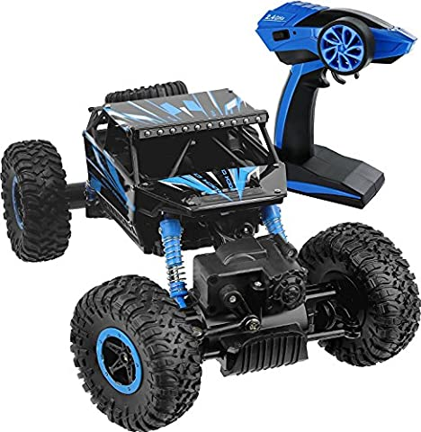 Rikuzo Rock Crawler RC Car 4WD Monster Truck 2.4Ghz Remote Control 1:18 High Speed Racing Rechargeable Vehicle