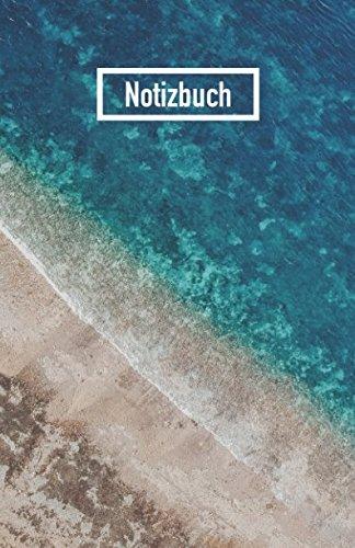 Notizbuch: Liniert mit 100 Seiten und Softcover, Motiv: Meer