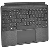 Microsoft Surface Go Signature Type Cover, English and Arabic Keyboard, Platinum Color [KCS-00014]